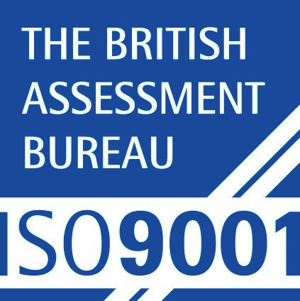 We are proud to be certified to ISO9001:2015