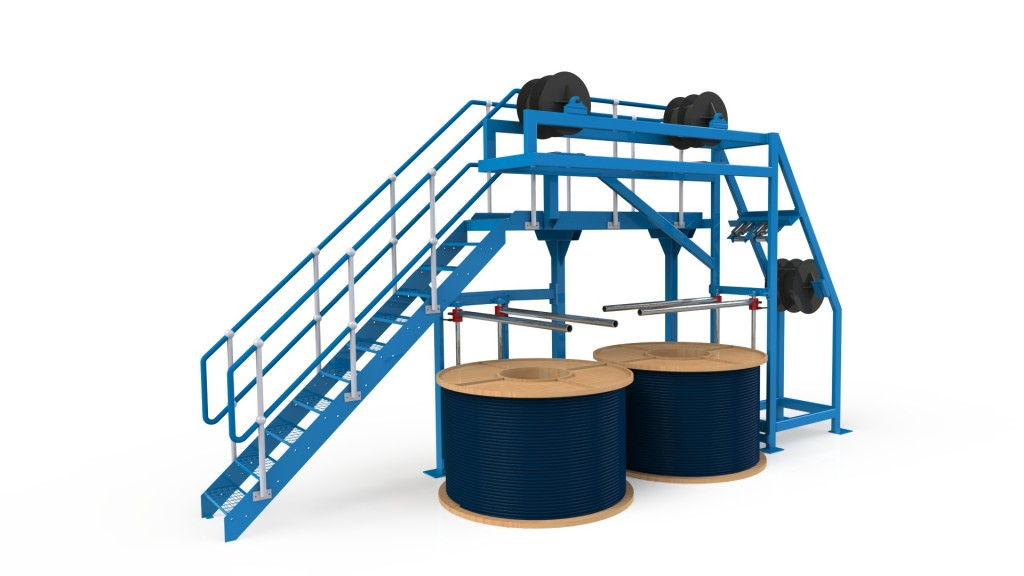 Gantry type coiler